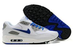 Mens Nike Air Max 90 Trainers Blue/White