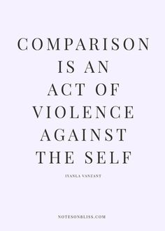 Comparison is an act of violence against the self. Self love. self love tips. self love quotes. self love inspiration. self love affirmations. self acceptance. The Words, Yoga Quotes, Motivational Quotes, Inspirational Quotes, Good Night Quotes, Good Heart Quotes, Morning Quotes, Quotes To Live By, Life Quotes