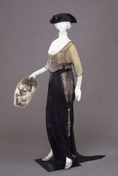 Evening dress ca. 1912 From the Galleria del Costume di Palazzo Pitti via Europeana Fashion