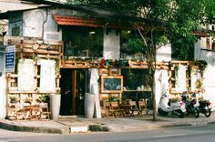 a coffee shop named Bazaar on Vo Thi Sau street, district 3, Ho Chi Minh city. (canon t80, canon 75-200). #filmphoto #decor #vietnam