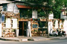 a coffee shop named Bazaar on Vo Thi Sau street, district 3, Ho Chi Minh city. (canon t80, canon 75-200). #filmphoto #decor #vietnam