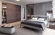 The Raggio is a contemporary wardrobe with sliding doors available from IQ Furniture.