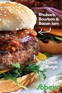 Juicy and full of rich flavour, our Canadian Chuck Medium Ground Beef Burgers are guaranteed fresh and handcrafted daily in-store by our butchers. Rhubarb Recipes, Jam Recipes, Beef Recipes, Great Recipes, Dinner Recipes, Cooking Recipes, Favorite Recipes, Hamburger Recipes, Cooking Tips