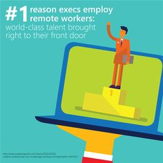 Why employ remote workers Remote, Infographics, Information Graphics, Infographic, Info Graphics