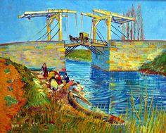 Van Gogh. Puente de Langlois con lavanderas.