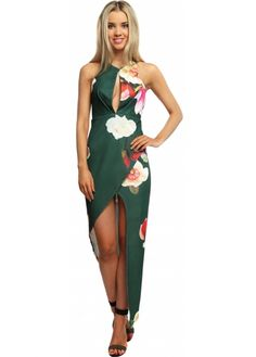 A perfect way to add some delicate floral and sumptuous colours to your outfit the Ginger Fizz Magnolia dress is a perfect party dress Magnolia Green, Ginger Fizz, Designer Party Dresses, Polished Look, Floral Maxi Dress, Perfect Party, Plunging Neckline, Up Hairstyles, Floral Prints
