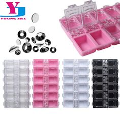 New 12 Checks Empty Nail Art Decorations Storage Case Box Nail Glitter Rhinestone Crystal Beads Accessories  Container Wholesale -- More info could be found at the image url.
