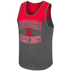 Rutgers Red and Black Logo Mens Tank Top Shirt NJ Scarlet Knights NEW XL #Rutgers #GraphicTee
