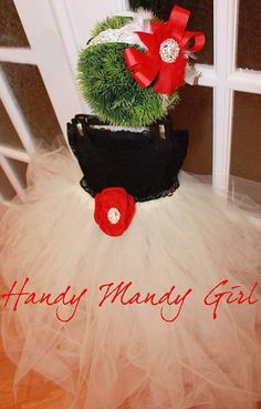 Black lace ivory tutu skirt red brooch Christmas outfit christmas party dress on Etsy, $85.00