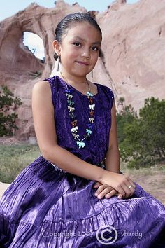 Navajo Girl at Window Rock