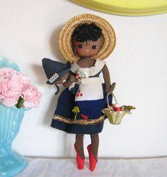 Vintage pose cloth doll