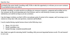 Business introduction letter to new client jobs pinterest 4 benefits of writing a new customer welcome letter spiritdancerdesigns Images