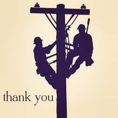 Thank you to the linemen and utility workers  who worked all throughout Christmas to fix the power outage after the big ice storm. We appreciate it very much. #lineman #thankyou #lostpower