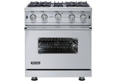 "VGIC5304BSS - Viking 30"" Professional Custom Series Stainless Steel Freestanding Gas Range at Abt $3899"