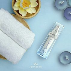 Luminesce Cellular Rejuvenation Serum, featuring the highest concentration of the Jeunesse exclusive brings out your skin's luminous glow. It revitalizes with botanical ingredients, including coconut and sweet potato root extracts. Anti Aging Tips, Anti Aging Skin Care, Skin Polish, Spa, Les Rides, Flawless Skin, Skin Cream, Your Skin, Designer
