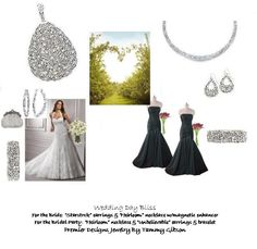 """Wedding Day Bliss..  For the Bride: """"Starstruck"""" earrings, """"Heirloom"""" necklace w/magnetic enhancer. For the Bridal Party: """"Heirloom"""" necklace & """"Unbelievable"""" earrings & bracelet.  Premier Designs Jewelrly By Tammy Gibson"""