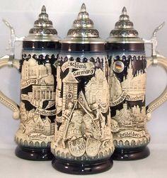 Blue Deutschland Germany Knights Relief LE German Beer Stein .5 L