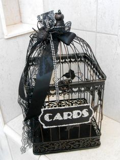 Card holder -- this is so cute and definitely something fairly cheap that we can make!