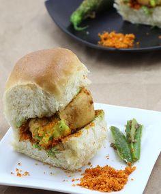 Vada Pav Recipe - Mumbai Style Pav Vada with Spicy Chutney