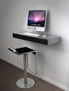 A wall mounted desk is such a space-saver. Multi-functional, convenient, and also simply trendy it can aid you create an useful home office in a snap. Its significant benefit over a regular desk is that it does not take up a great deal of precious area. Space Saving Computer Desk, Wall Mounted Computer Desk, Computer Desk Design, Diy Computer Desk, Wall Desk, Office Desk, Diy Desk, Desk Cubby, Small Computer