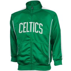 Majestic Boston Celtics Youth Tricot Team Full Zip Track Jacket - Kelly  Green 46ef0a669884