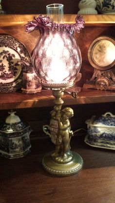 Vintage Cherub lamp. Available @ Valley Vintage & Antique Finds in North Conway, NH.