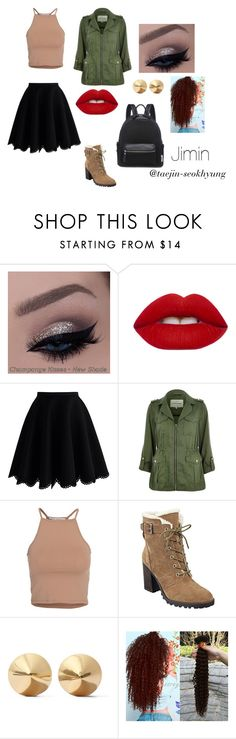 """Jimin: Going to School"" by taejin-seokhyung ❤ liked on Polyvore featuring Lime Crime, Chicwish, River Island, NLY Trend, Ivanka Trump and Eddie Borgo"