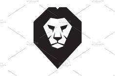 Lion Head Logo - Vector Sign - Logos