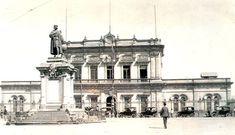 Edificio de la estación del F.C. Mexicano, posiblemente en los años 20 del siglo pasado