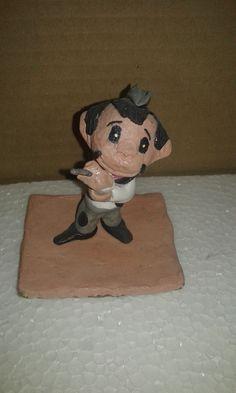 """""""Cantinflas"""" técnica de papel maché."""