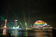 """KOBE SWING OF LIGHTS"" in Kobe, Japan by k13a, via Flickr"