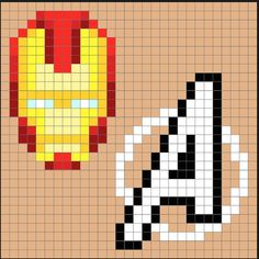 Perler Bead Projects, Ideas, and Tutorials! Perler Bead Designs, Hama Beads Design, Perler Bead Art, Perler Beads, Pop Art Patterns, Pearler Bead Patterns, Perler Patterns, Pattern Art, Pixel Art Super Heros