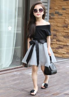 Cheap children clothes girl, Buy Quality fashion girl directly from China children clothes Suppliers: Children's clothes girls suits summer 2017 children the new leisure fashion female baby Dress suits summer two-piece outfit Little Girl Outfits, Little Girl Fashion, Little Girl Dresses, Kids Fashion, Girls Dresses, Baby Dresses, Fashion Fashion, Outfits Niños, Baby Outfits