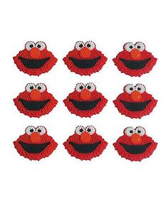 Y is for yummy! Decorated with Elmo's one-of-a-kind smile, this sugary-sweet set can't wait to tickle grins and tummies.