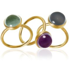 The Marianne Dulong cabochon rings