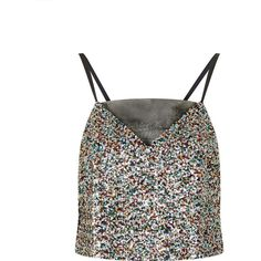 Sunlight Sequins and Mesh Cami Top by Jovonna (£15) ❤ liked on Polyvore featuring tops, crop tops, tank tops, topshop, multi, mesh tank top, white cami, white crop top, crop top and mesh crop top