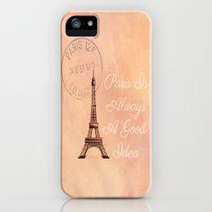 Vintage Paris is Always a Good Idea  iPhone & iPod Case by secretgardenphotography [Nicola] - $35.00
