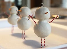 The beginnings of some snowmen decorations I'm making to be sold at the APSA Red Show, all proceeds to the local Food Bank.