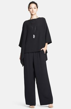 'One Seam Pants'. the 'Anything But Ordinary' top made a… Hijab Fashion, Fashion Outfits, Womens Fashion, Casual Wear, Casual Outfits, Power Dressing, Couture Tops, Silk Crepe, Fashion Sewing