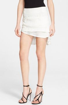 Haider Ackermann Asymmetrical Flounce Crepe Miniskirt available at #Nordstrom