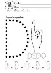 alfabeto pontilhado para colorir - letra d