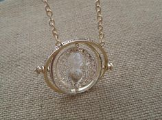 Harry Potter TIME TURNER NECKLACE Hermione Granger 18k Yellow plated on Etsy, $5.80