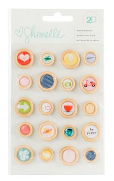 Shimelle - True Stories Collection - Wood Buttons - SharBearCrafts