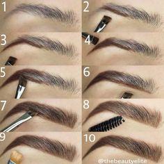 Make Up; Make Up Looks; Make Up Augen; Make Up Prom;Make Up Face; Makeup Steps Source by kayceenjax Eyebrow Makeup Tips, How To Do Makeup, Makeup Guide, Makeup Hacks, Eye Makeup Tips, Makeup Inspo, Eyeshadow Makeup, Makeup Contouring, Makeup Ideas