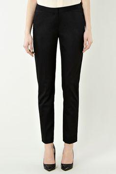Slim leg black trousers