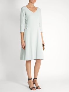 Click here to buy Goat Darling V-neck wool-crepe dress at MATCHESFASHION.COM