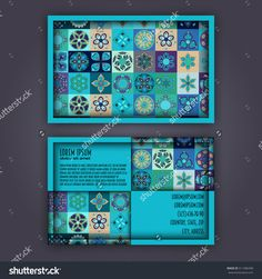 Vector Business Card Design Template With Ornamental Geometric Mandala Pattern. Vintage Decorative Elements. Hand Drawn Tile Background. Islam, Arabic, Indian, Ottoman Motifs. - 511486498 : Shutterstock
