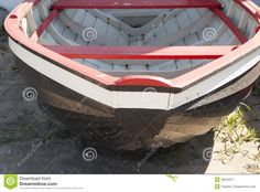 Danish traditional beach fishing boat