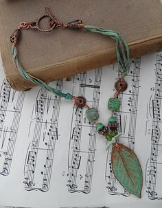 Woodland Beauty Necklace by thewhisperingseas on Etsy, $35.00