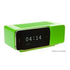 Areaware Alarm Dock Green Resin Ronrobinson Fredsegal Alarmclock Earthday